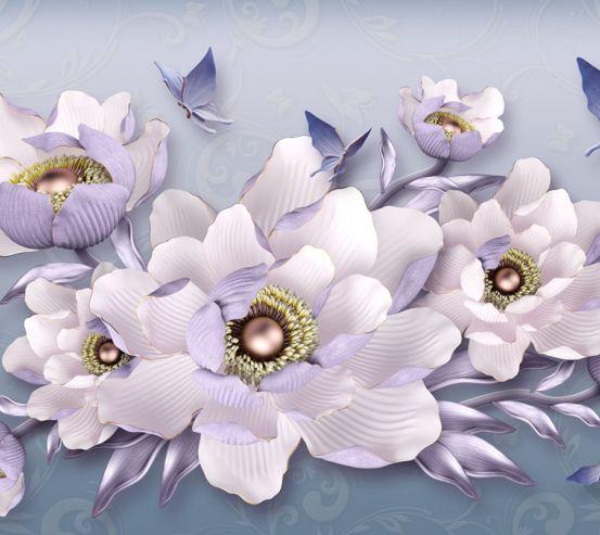 Фотообои 3д цветы 23756