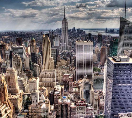 Фотообои Тучи свет New York 1953