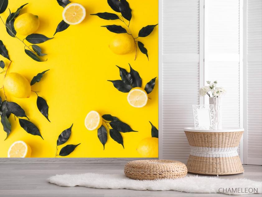 Фотообои желтые с лимоном - 2
