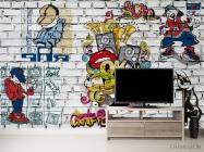 Фотообои 3д стена с граффити - 2