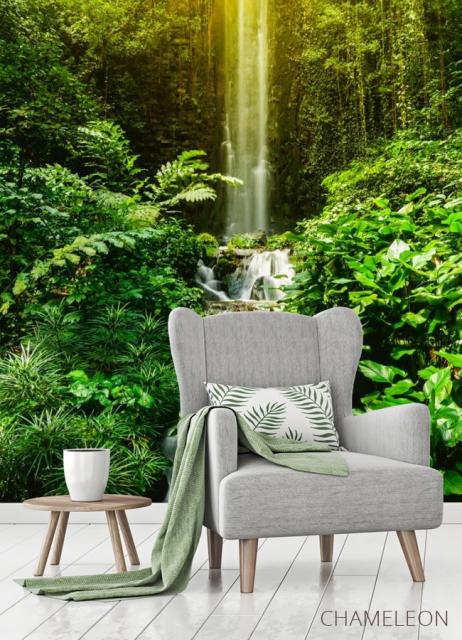 Фотообои водопад и лес - 3