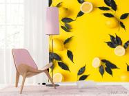Фотообои желтые с лимоном - 4