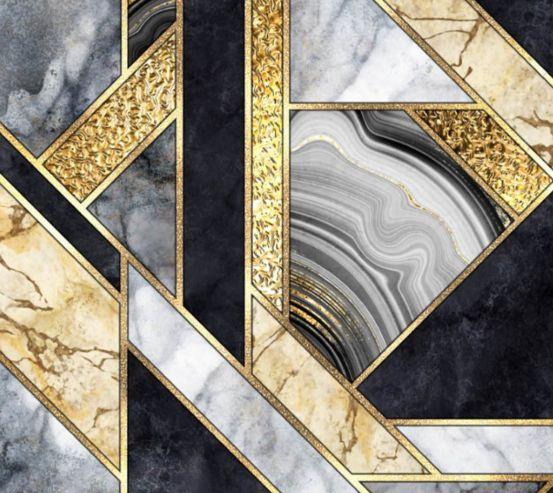 Фотошпалери сірий мармур з золотом 27101