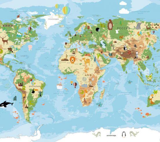 Фотообои Карта в детскую  24139