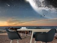 Фотообои луна над морем - 1