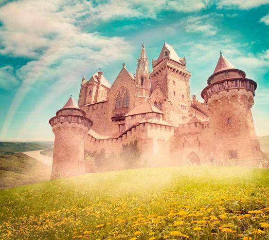 Фотообои Замок посреди поля 8953