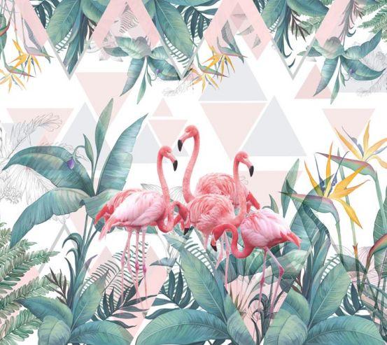 Фотообои Фламинго и тропики 22266