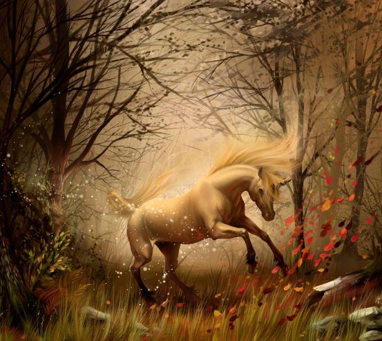 Фотообои Конь в лесу 0464