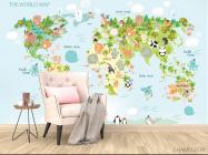 Фотообои Детская развивающая карта - 4