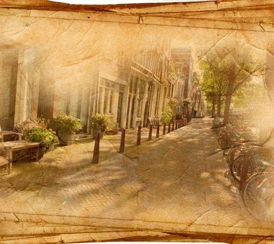 Фотообои Винтажная улица 10028