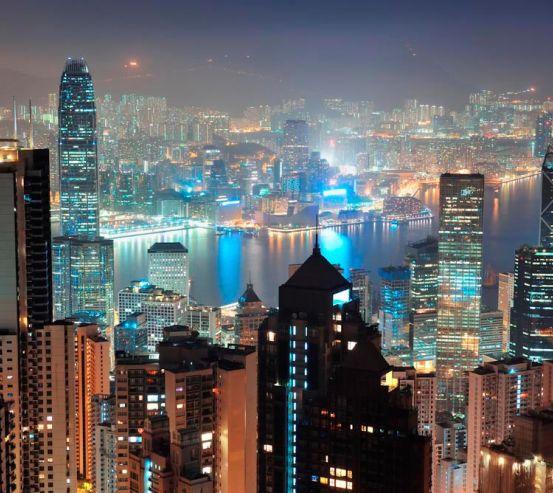 Фотообои Вид сверху в Гонконге 13775