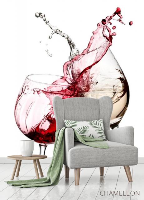 Фотообои красное и белое вино - 3