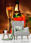 Фотообои Клубника, шампанское - 3