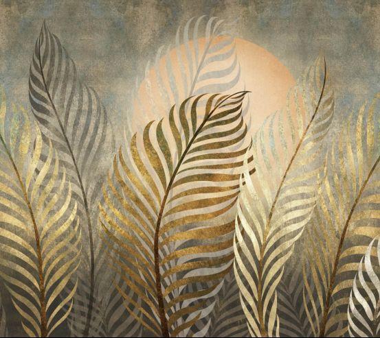 Фотошпалери золоті листя 26431