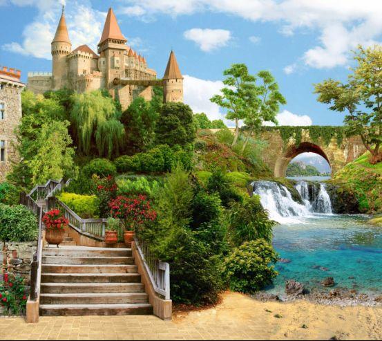 Фотообои Фреска с замком 24668