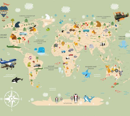 Фотообои Карта в детскую  24155