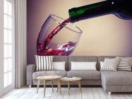 Фотообои красное вино в бокал - 3