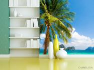 Фотошпалери пальма на березі моря - 3