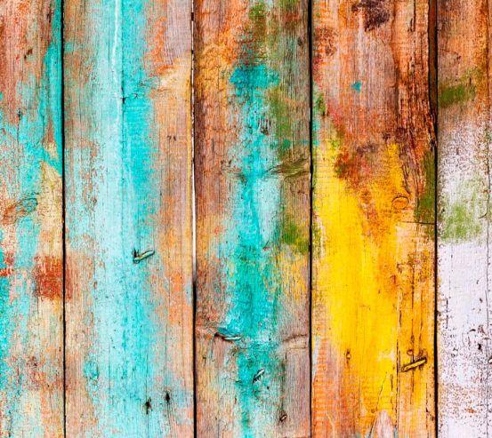 Фотообои Цветная деревянная основа 19458