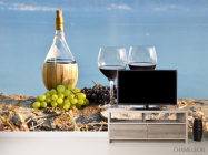 Фотообои красное вино на берегу - 2