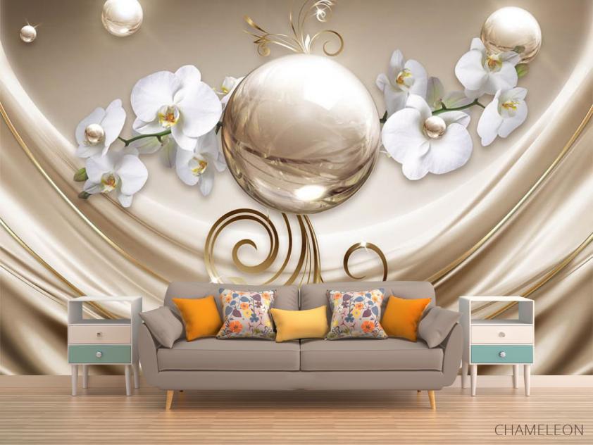 Фотообои Орхидеи и шар - 1