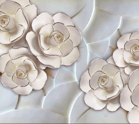Фотошпалери Порцелянові білі квіти 20039