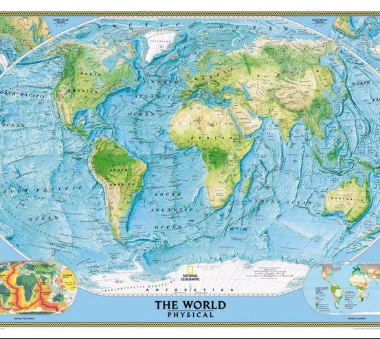 Фотообои Физическая карта мира 20102