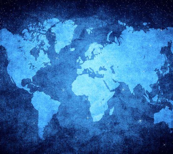 Фотообои Ночная карта мира 20399