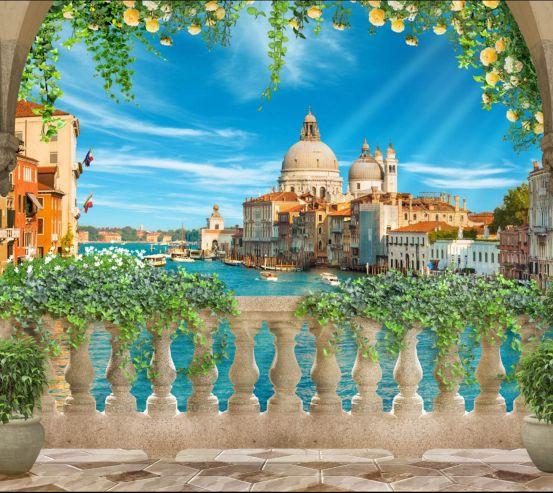Фотошпалери Вид з балкона на Венецію 28051