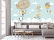 Фотообои Зверюшки на воздушных шарах - 3