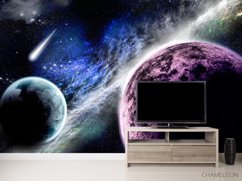 Фотообои Планеты и метеорит - 2