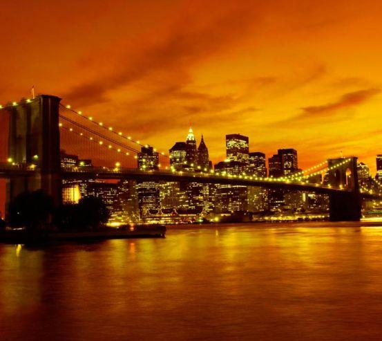 Фотообои Ночной мост Бруклина 10604