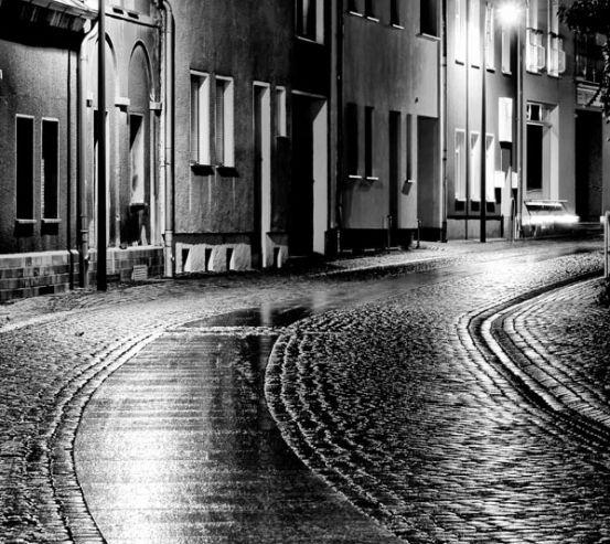 Фотообои Ночная улочка 7226