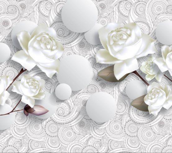 Фотообои 3D розы 18069