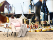 Фотообои вино и тарталетки - 4