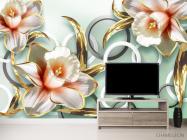 Фотообои 3D цветы  - 2