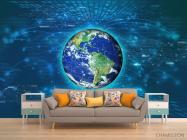 Фотообои полоски вокруг Земли - 1