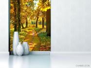 Фотообои дорожка в осеннем лесу - 1
