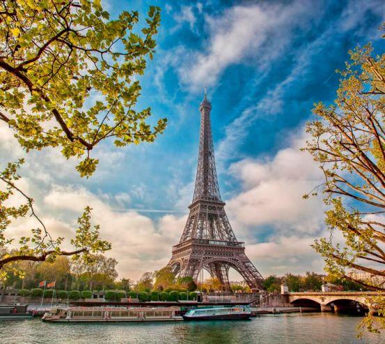 Фотообои Париж осенью 13405
