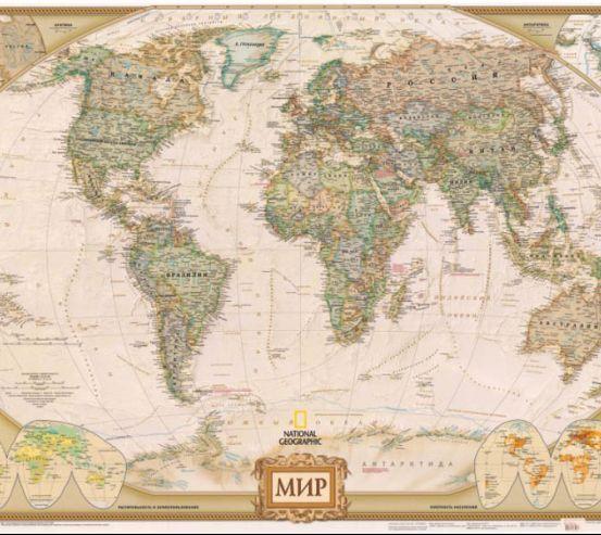 Карта світу 9584