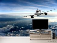 Фотообои самолёт над облаками - 2