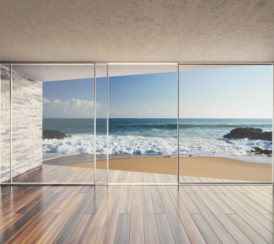 Фотообои Вид на море из окна 23380
