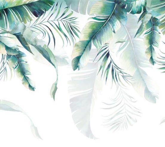 Фотообои Тропические листья с потолка а066
