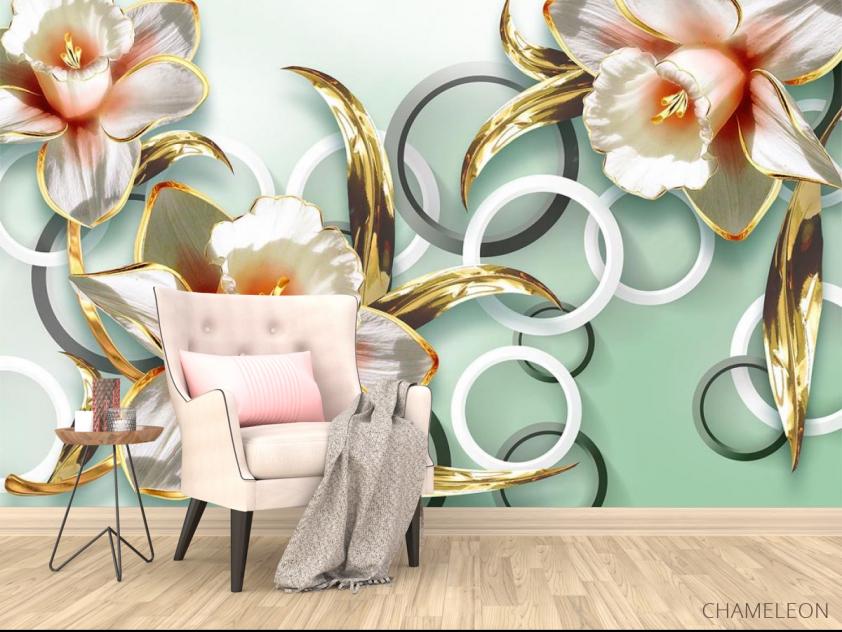 Фотообои 3D цветы  - 4