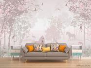 Фотообои Розовые единороги - 1
