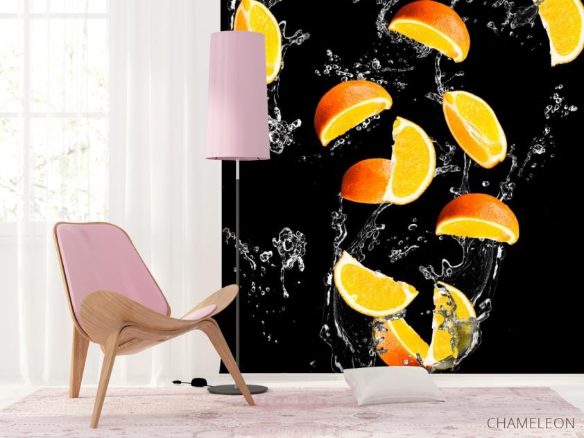 Фотообои апельсинкаи на чёрном фоне - 4