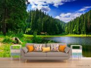 Фотообои озеро и лес - 1