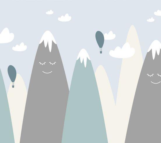 Фотошпалери Блакитні гори векторні 24058