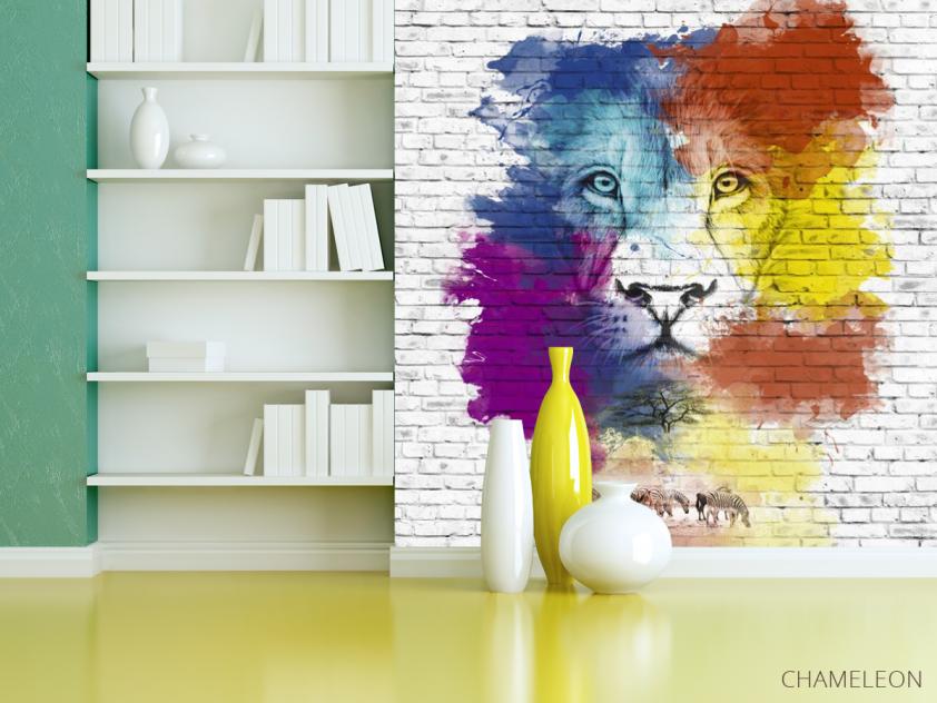 Фотообои Акварельный лев - 3
