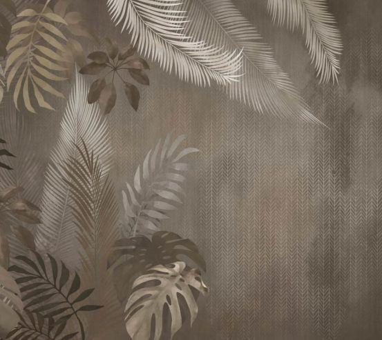 Фотообои Коричневые тропические листья 24342